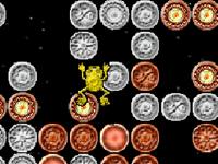 لعبة الضفدع الصغير والقفز على العملات المعدنية