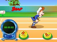 لعبة رياضة الولد والجري الرائع