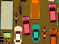 لعبة سيارات وموقف السيارات الكبير