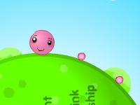 لعبة الكرة الصغيرة وجمع الحبوب الوردية