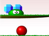 لعبة الكرة الحمراء الصغيرة وجمع الكريستالات
