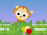 لعبة القرد اللطيف مو وجمع الفواكه اللذيذة