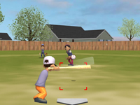 لعبة رياضية البيسبول والملعب الكبير الرائع