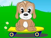 لعبة الكلب اللطيف والتقاط الاطباق الطائرة