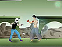 لعبة القتال العنيفة والقوية
