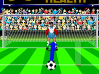 لعبة رياضية كرة القدم وتسجيل الاهداف