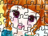 لعبة تركيب صورة البنت الصغيرة