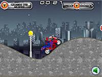 لعبة سبايدرمان والدراجة النارية السريعة
