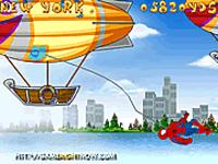 لعبة سبايدر مان والمنطاد الطائر