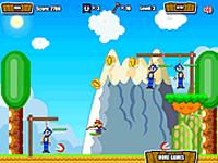 لعبة مغامرة سونيك في عالم ماريو