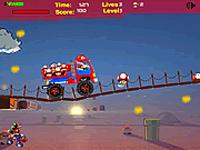 لعبة ماريو والشاحنة الكبيرة