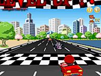 لعبة ماريو والسيارة الحمراء الجميلة