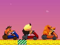 لعبة كراش وسباق السيارات الرائع