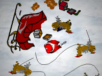 لعبة سانتا الشجاع ومواجهة وحوش الزومبي