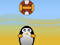 لعبة كرة الطائرة الخطيرة للاولاد