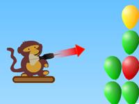 لعبة ذكاء للاطفال والبالونات الملونة