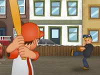 لعبة بيسبول بالشارع للصغار