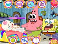 لعبة سبونج بوب ورعاية الطفل