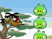 لعبة الطيور الغاضبة والهليوكوبتر