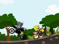 لعبة سبونج بوب وسباق الدراجات
