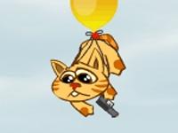 لعبة القط والبالون